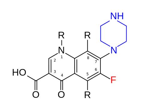 Общая структура фторхинолонов