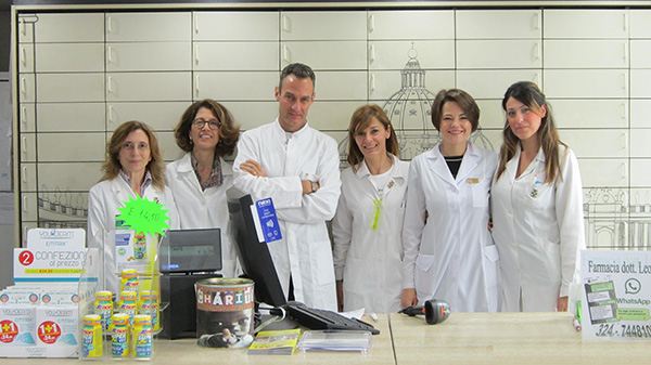Коллектив аптеки Farmacia dott.Alessandro Leone