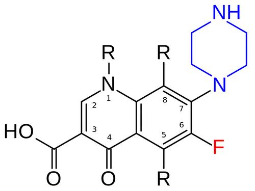 Загальна структура фторхінолонів