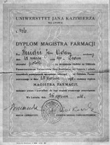 диплом магістра фармації